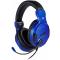 Casti Gaming BigBen SETV3 PS4, cu microfon, 3.5 mm, Albastre NAC0002