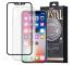 Pachet promotional Remax Husa TPU transparenta + Folie Protectie Ecran pentru Apple iPhone X, Sticla Securizata, Full Face, Crystal, Neagra, Blister