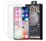 Pachet promotional Remax Husa TPU transparenta + Folie Protectie Ecran pentru Apple iPhone XS, Sticla Securizata, Full Face, Crystal, Alba, Blister