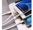 Cablu Date si Incarcare USB la Lightning - USB la MicroUSB - USB la USB Type-C WK-Design, WDC-010, 1 m, Alb, Blister
