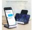 Incarcator Retea Wireless Floveme YXF113867, Quick Charge 10W, Negru, Blister