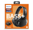 Handsfree Casti Bluetooth Philips BASS+ Over-Ear, Negru, Blister SHB3175BK/00