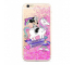 Husa TPU Disney Minnie 035 Liquid Glitter pentru Apple iPhone 7 / Apple iPhone 8, Roz, Blister
