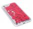 Husa TPU OEM Liquid Heart pentru Apple iPhone XS Max, Rosie - Transparenta, Bulk