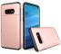 Husa Plastic OEM Rugged Armor pentru Samsung Galaxy S10e G970, Cu slot pentru card de credit, Roz Aurie