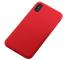Husa TPU OEM Liquid Silicone pentru Apple iPhone XS Max, Rosie, Bulk