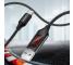 Cablu Date si Incarcare USB la USB Type-C Floveme Cu afisaj LED pentru amperaj si voltaj, 1 m, Negru, Blister