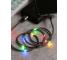 Cablu Date si Incarcare USB la USB Type-C Proda Leiyin PD-B14a, cu LED-uri Audio, 2.1A, 1 m, Negru, Blister