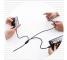 Cablu Incarcare USB la Lightning - USB la MicroUSB - USB la USB Type-C Usams SJ324, 1.2 m, Negru, Blister
