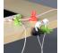Suport birou cu adeziv pentru organizare cabluri OEM, Rabbit, Alb