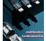 Cablu Date si Incarcare USB la Lightning - USB la MicroUSB - USB la USB Type-C Joyroom S-M401, 3 in 1, 3.5A, 1.2 m, Negru, Blister