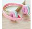 Handsfree Casti On-Ear Gjby EXTRA BASS, GJ-04, Fara microfon, 3.5 mm, Roz, Blister