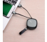 Cablu Date si Incarcare USB la MicroUSB HOCO U33, Retractabil, 0.9 m, Negru, Blister