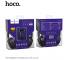 Set Handsfree Casti On-Ear + In-Ear HOCO W24, Cu microfon, 3.5 mm, Negru - Mov, Blister