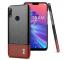 Husa Piele Imak Ruiyi Concise Slim pentru Asus Zenfone Max Pro (M2) ZB631KL, Maro - Neagra