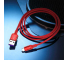 Cablu Date si Incarcare USB la USB Type-C Rock R2 5A, Fast Charging, 1 m, Rosu, Blister