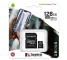 Card Memorie MicroSDXC Kingston Canvas Select Plus Android A1, cu adaptor, 128Gb, Clasa 10 - UHS-1 U1 SDCS2/128GB