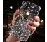Husa TPU WZK Star Glitter Shining pentru Apple iPhone X / Apple iPhone XS, Neagra, Blister