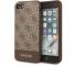 Husa Piele Guess pentru Apple iPhone 7 / Apple iPhone 8 / Apple iPhone SE (2020), 4G Stripe, Maro GUHCI8G4GLBR