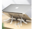 Suport laptop Tech-Protect Alustand, Universal, 16 inch, Aluminiu, Pliabil, Argintiu, Blister