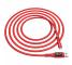 Cablu Date si Incarcare USB la MicroUSB HOCO S6 Sentinel, Afisaj Led, 2.4A, 1.2 m, Rosu, Blister