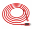 Cablu Date si Incarcare USB la USB Type-C HOCO S6 Sentinel, Afisaj Led, 2.4A, 1.2 m, Rosu, Blister