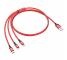 Cablu Incarcare USB - Lightning / USB Type-C / MicroUSB HOCO X14 TIMES, 1 m, Rosu, Blister