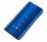 Husa Plastic OEM Clear View pentru Samsung Galaxy M21, Albastra