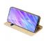 Husa Piele DUX DUCIS Skin Pro pentru Samsung Galaxy S20 Plus G985 / Samsung Galaxy S20 Plus 5G G986, Aurie, Blister