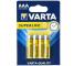 Set 4 x baterie R03 / AAA Varta Superlife, Blister