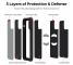 Husa Fibra Aramida Pitaka MagEZ Case Pro pentru Apple iPhone 11 Pro Max, Car Case Magnet, Tesatura diagonala (Twill), Neagra Gri, Blister KI1101MP
