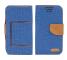 Husa Textil OEM Canvas, dimensiuni interioare 145 x 80mm pentru Telefon 5 inci, Bleumarin, Bulk