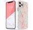 Husa TPU Tech-Protect Marble pentru Apple iPhone 12 mini, Roz, Blister