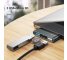 Hub USB Type-C Usams 2xUSB + Micro SD, Gri, Blister SJ463HUB01