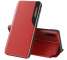 Husa Piele OEM Eco Leather View pentru Samsung Galaxy S20 Plus G985, cu suport, Rosie