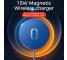 Incarcator Retea Wireless Joyroom JR-A28, MagSafe, 15W, Quick Charge, Alb