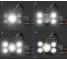 Lanterna CREE L76C, Frontala, Outdoor, 5 x LED, Neagra, Blister