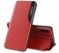 Husa Piele OEM Eco Leather View pentru Samsung Galaxy M51, cu suport, Rosie