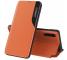 Husa Piele OEM Eco Leather View pentru Samsung Galaxy A12 A125, cu suport, Portocalie