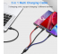 Cablu Incarcare USB - Lightning / USB Type-C / MicroUSB Usams U26, 1.5 m, 2A, Multicolor SJ318USB01