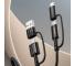 Cablu Date si Incarcare USB Type-C / USB - USB Type-C / Lightning Joyroom S-1830G3, 1.8 m, 60 W, Negru