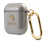 Husa Protectie Casti Guess Glitter pentru Apple AirPods Gen 1 / Apple AirPods Gen 2, Neagra GUA2UCG4GK