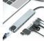 Hub USB Type-C XO Design HUB003, 8 in 1, Argintiu